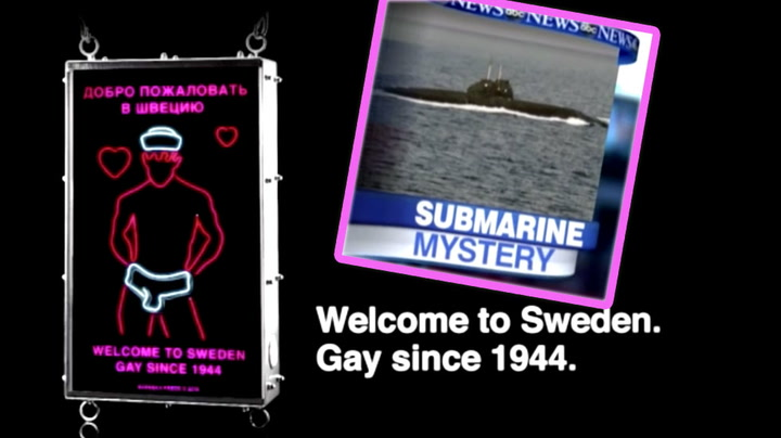 Frekt homoskilt skal skremma russiske ubåtar i Sverige