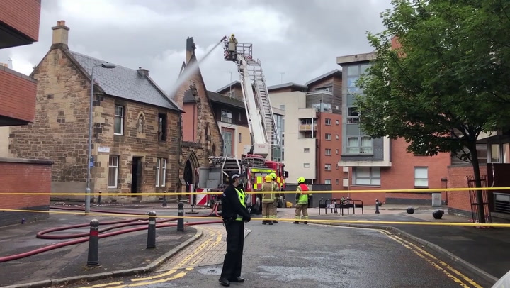 Firefighters tackle blaze at 'historic' Glasgow church