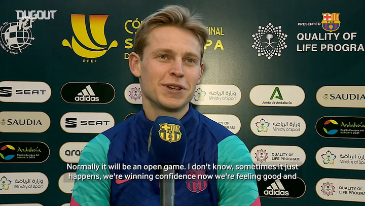 Frenkie de Jong: 'We are winning confidence'