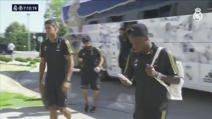 El Real Madrid se concentro en el RMCity antes del partido frente al Real Valladolid