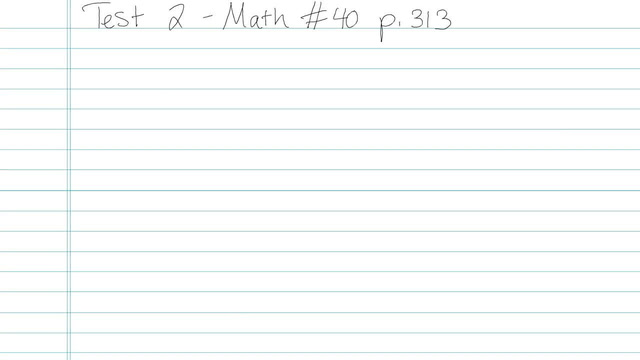 Test 2 - Math - Question 40