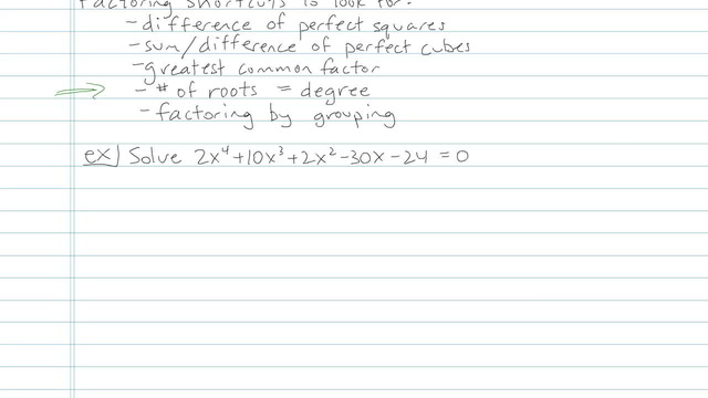 Solving by Factoring - Problem 3