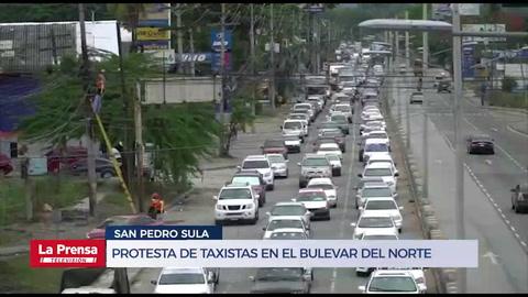 Taxistas de Honduras exigen que les permitan reactivar su actividad