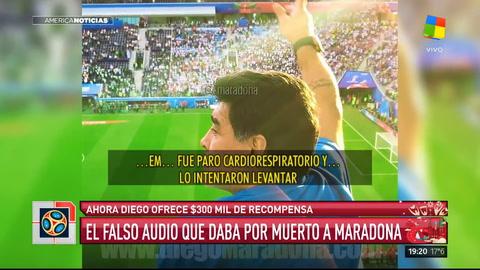 Maradona ofrece recompensa para encontrar al autor de los audios que lo dieron por muerto