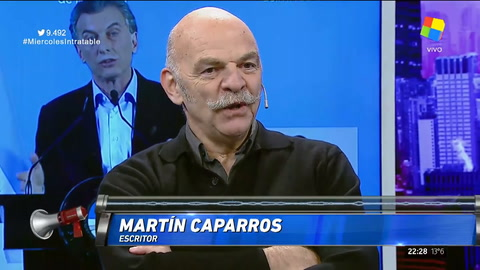 Martín Caparrós: Desde el menemismo vivímos de decepción en decepción
