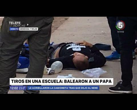 Feroz ataque a balazos contra un empresario en la puerta del Colegio San Bartolomé