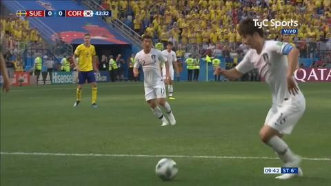 El VAR entró en juego para un gol de penal que le dio el triunfo a Suecia