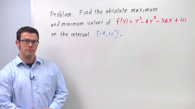 Optimization Using the Closed Interval Method - Problem 1
