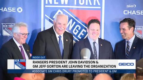 Why did Rangers pull the plug on GM Jeff Gorton, president John Davidson?