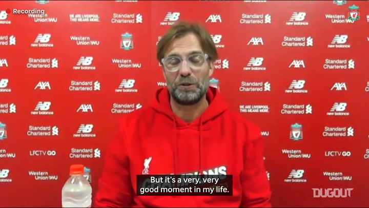Jurgen Klopp reacts to Liverpool's Premier League title win
