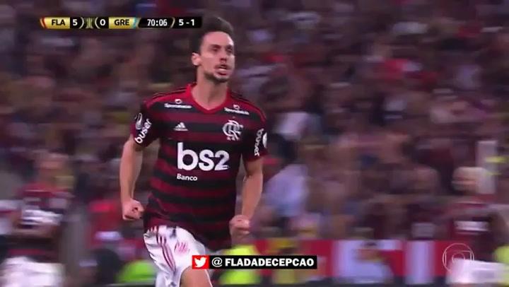 Así fue el gol de Rodrigo Caio con el Flamengo en la semifinal de la Copa Libertadores