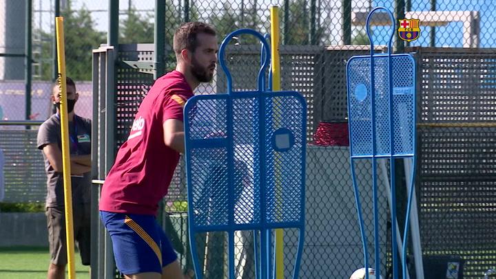 El Barça se ejercita el sábado antes de su debut en pretemporada ante el Nàstic