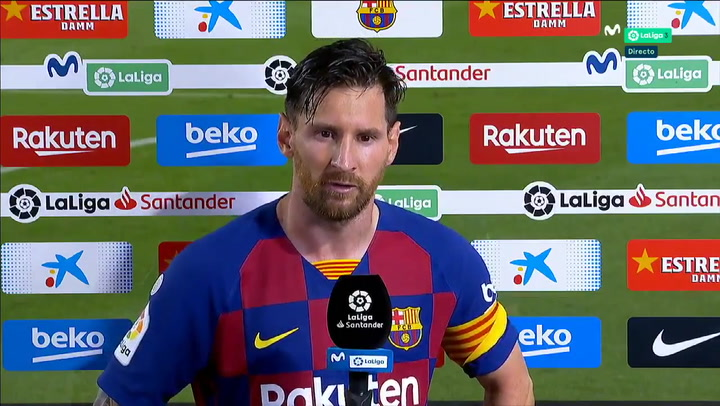 Messi habló al final del partido ante Osasuna