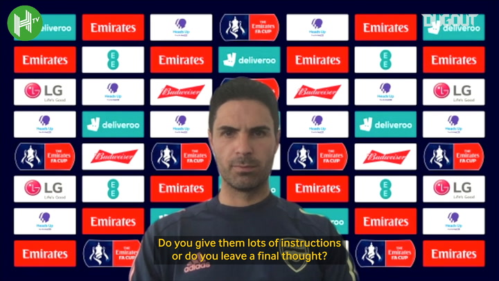 Mikel Arteta on team talks and bonds within the dressing room ahead of the FA Cup Final
