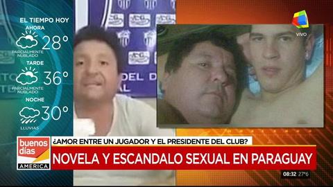 Filtran fotos íntimas del presidente de un club paraguayo con un jugador y denuncian una extorsión