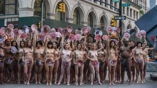 Nakenprotest mot brystvorteforbud
