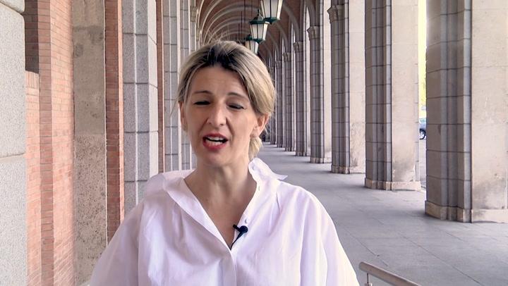 Yolanda Díaz señala que este primero de mayo no es un día más