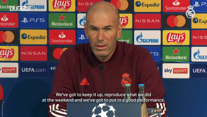 Zidane: 'We'll have to stay focused for the 90 minutes'