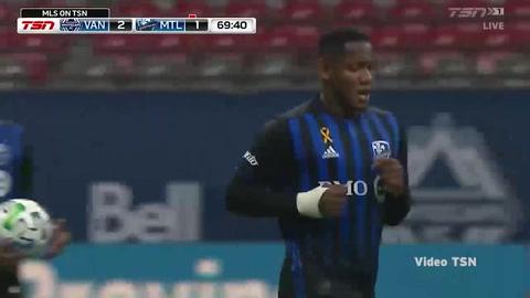 Romell Quioto suma su quinto gol de la temporada de la MLS con Impact Montreal