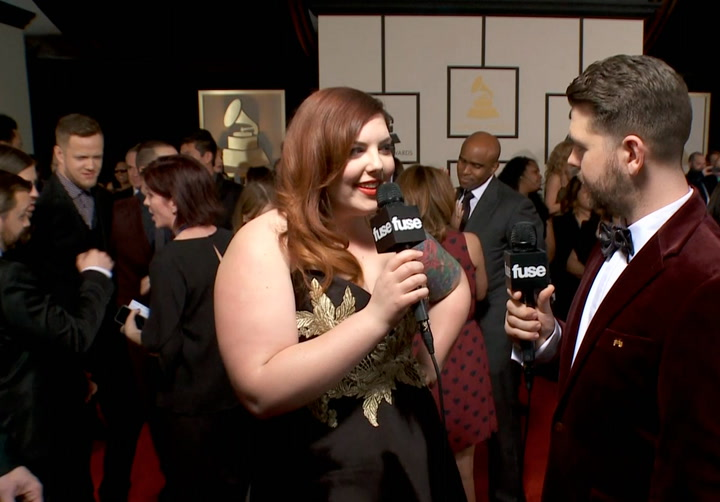 "Shows: Grammmys 2014: ""Same Love"" Singer Mary Lambert Will ""Hopefully"" Kiss Madonna During GRAMMY Performance"