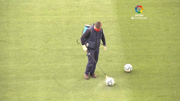 Primer entrenamiento del Real Valladolid