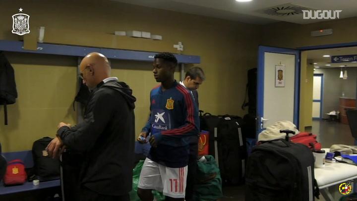 Ansu Fati's debut with Spain U21s