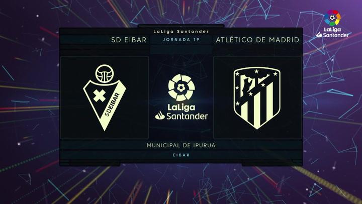 LaLiga Santander (Jornada 19): Eibar 1-2 Atlético de Madrid