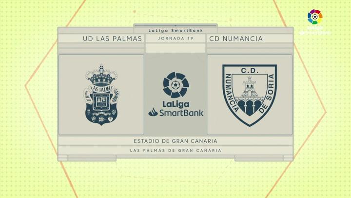 LaLiga SmartBank (J19): Resumen y goles del Las Palmas 3-1 Numancia