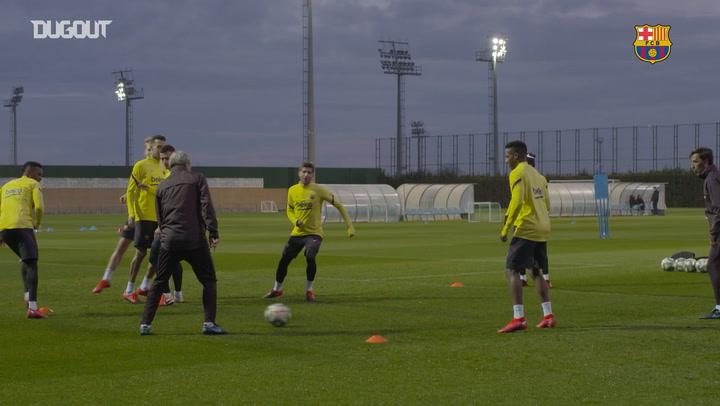 Barça begin preparations for Betis Clash