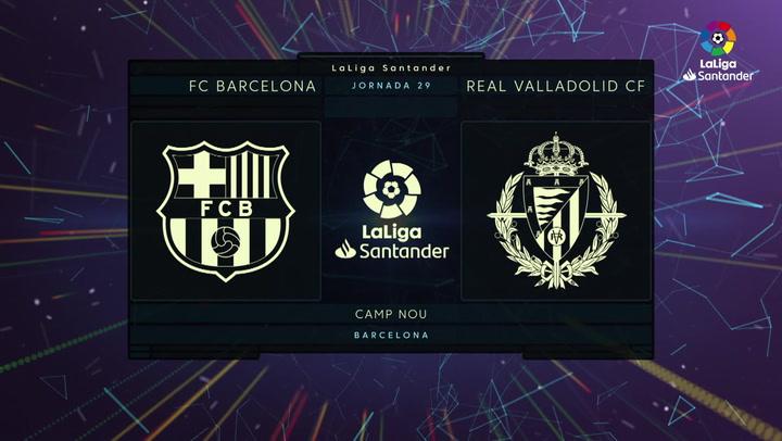 LaLiga Santander (J29): Resumen y gol del Barcelona 1-0 Valladolid