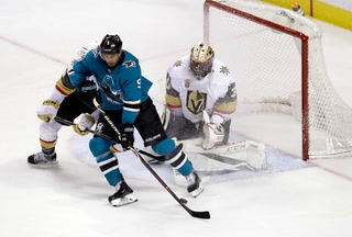 Golden Edge: Knights Lose In Overtime 2-1 Against Sharks
