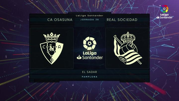 LaLiga (J38): Resumen y goles de Osasuna 0-1 Real Sociedad