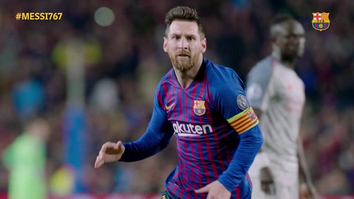 El espectacular vídeo del Barça de homenaje a Leo Messi