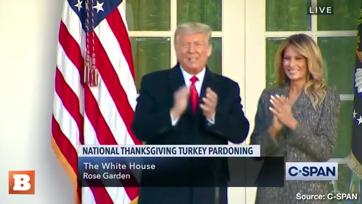 At White House Turkey Pardon, Reporter Asks Donald Trump if He Plans to Pardon Himself