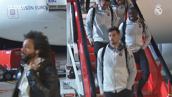 Real Madrid arrive in Pamplona