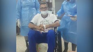 El entrenador de los Potros de Olancho de la Liga de Ascenso, Roger Espinoza deja el hospital tras vencer el coronavirus