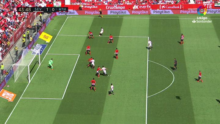 LaLiga: Sevilla - Athletic Club. Gol de Ben Yedder en el minuto 44 (1-0)