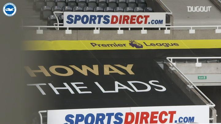 La victoria del Brighton en Newcastle, desde a pie de campo