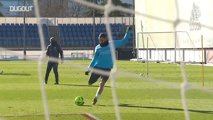 Speed and finishing drills, as Real prepare to face Elche