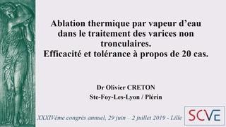 Ablation thermique par vapeur d