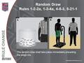 13 RR - Random Draw