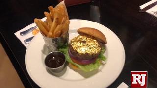Hard Rock Cafe 24k burger on Las Vegas Strip