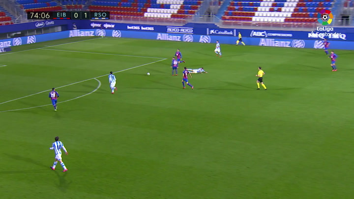 Gol de Willian José (0-2) en el Eibar 1-2 Real Sociedad