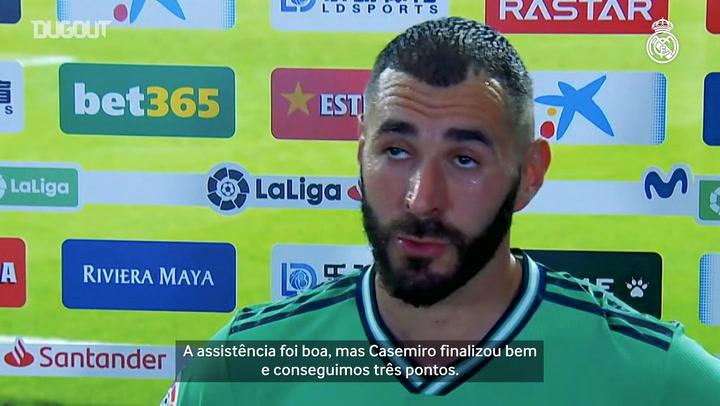 Benzema exalta Casemiro após gol decisivo em vitória do Real Madrid