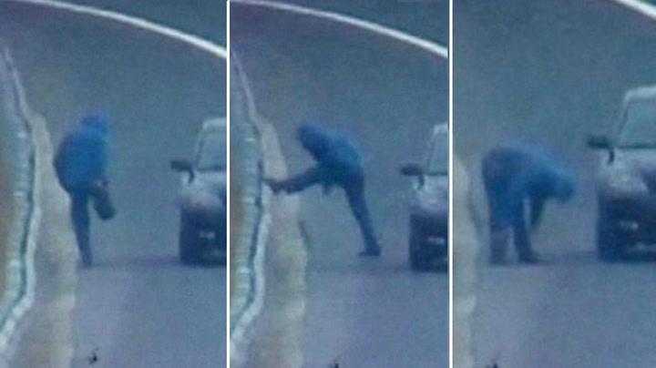 Mann tok morgentrimmen på motorveien
