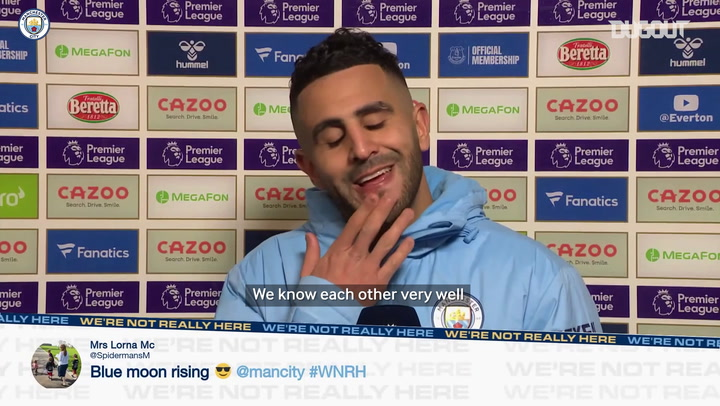 Riyad Mahrez on 'telepathic' Manchester City team-mates
