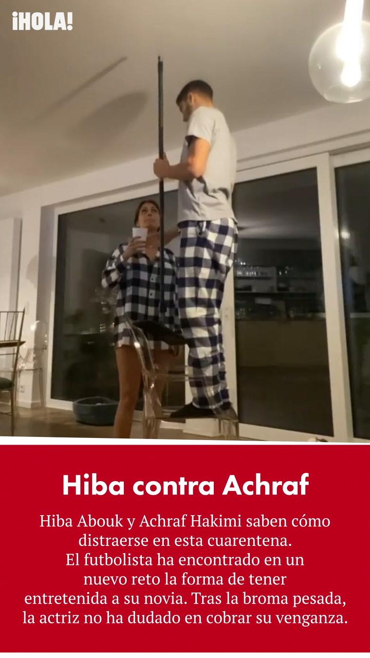 La venganza de Hiba Abouk tras ser blanco de una broma de Achraf Hakimi