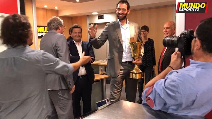 La Copa del Mundo de baloncesto, en la redacción de MD