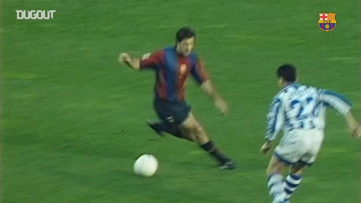 El Barcelona castiga al Alavés con un 7-1 en Liga de 1998/99