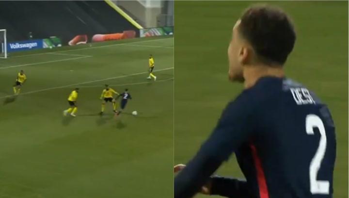 ¡Sergiño Dest se viste de Messi con Estados Unidos y marca este golazo!